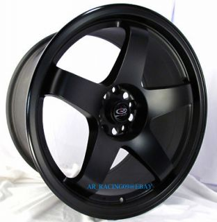 18 Rota Rims Wheels 18x9 5 P45R Black G37 Genesis RX8