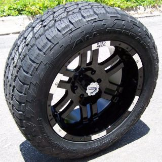 20 BLACK MOTO METAL 951 WHEELS 32 NITTO TERRA GRAPPLER TOYOTA SEQUOIA