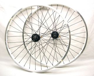 MOUNTAIN BIKE WHEELS WHEELSET F R WHITE DISC BRAKE RIM BRAKE ALEX DM24