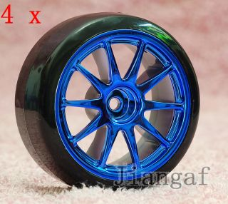 Pcs 1 10 Drift Tires Tyre Wheel Rim RC Road Car PY6Y57