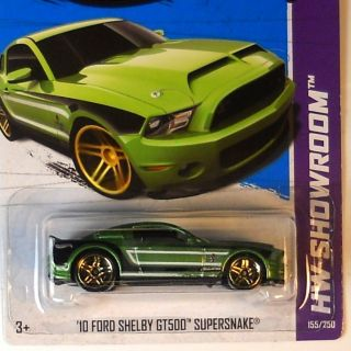 Hot Wheels 2013 HW Showroom 10 Ford Shelby GT500 Supersnake E Case