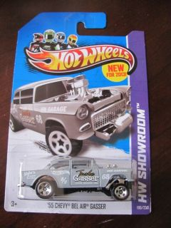 55 Chevy Bel Air Gasser Grey 2013 Hot Wheels