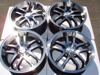 4x114 3 Polished 4 Lug Wheels Prelude Civic Integra Accord Alloy Rims