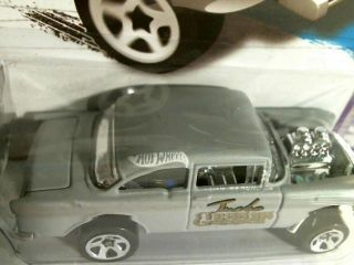 Past RARE Error Hot Wheels 2013 Showroom 55 Chevy Bel Air Gasser L K