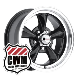 Black Classic Wheels Rims 5x4 75 lug pattern for Chevy El Camino 59 81