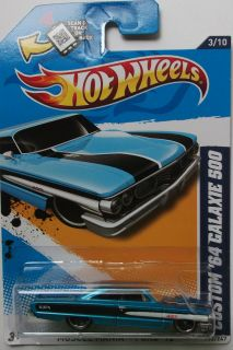 2012 Hot Wheels Custom 64 Ford Galaxie 500 Col 113 Blue Version