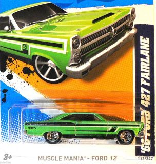 Hot Wheels 2012 Muscle Mania Ford 66 Ford 427 Fairlane J Case