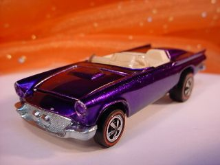 Hot Wheels 1968 Classic 57 Bird Purple White Int Redline Car Diecast