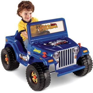 Fisher Price Power Wheels Hot Wheels Jeep 6 Volt Battery Powered Ride
