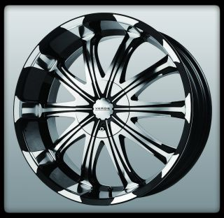 V51 Avatar Black Machined Silverado Colorado Tahoe Wheels Rims