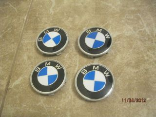 BMW SET OF 4 PEACES CENTER WHEEL RIM HUB CAP 68MM DOME HUBS CAPS 4PCS
