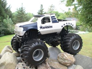 Hot Wheels Monster Jam Custom Dallas Cowboys Blue Thunder 1 24 scale