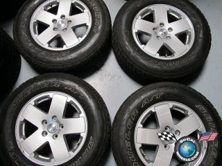 07 12 Jeep Wrangler Factory 18 Wheels Tires OEM Rims 9076 255 70 18