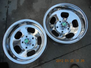 NEWLY POLISHED 15x8 5 E T SLOT MAG WHEELS CHEVY FORD MOPAR GASSER MAGS