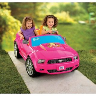 Power Wheels Barbie Pink Ford Mustang Car Electric 12V Ride on P8812