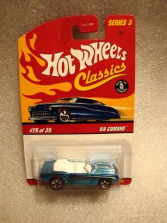 Hot Wheels Classics Series 3 Ice Blue 69 Camaro Conver