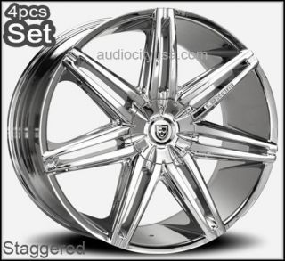28 Lexani Johnson Wheels Rims Chevy Escalade Ford 5 and 6 Lug