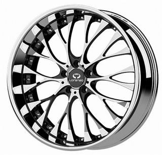 19 inch Lorenzo WL027 Chrome Wheels Rims 5x4 5 5x114 3 Infinity G35