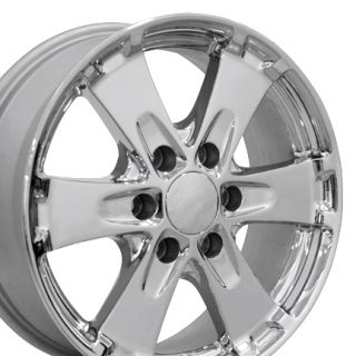 18 Chrome Canyon Wheels 5325 Set of 4 Rims Fit Chevy GMC Colorado Z71