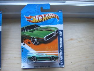 2011 Hot Wheels Green 1967 Pontiac Firebird 400 86 244 Street Beasts