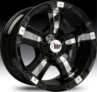 20x10 8x170 12 RBP 96R Gloss Black with Chrome Inserts