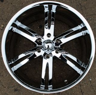 Akuza Dominion 701 20 Chrome Rims Wheels 20 x 9 0 Chevrolet Avalanche