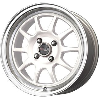16 Drag DR16 White Rims Wheels Tires Mini Cooper 195 55 16 Hankook