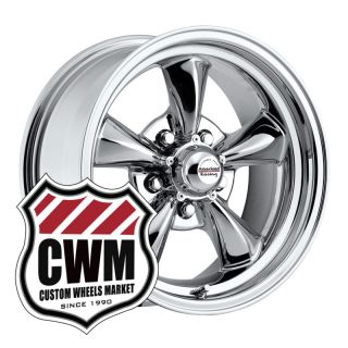 17x8 Chrome Aluminum Wheels Rims 5x5 pattern for Chevy C10 Truck 73 87