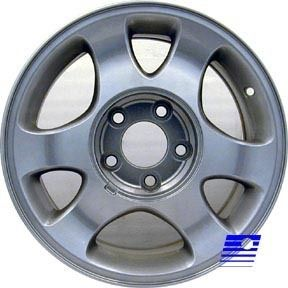 15x7 Factory OE Alloy 6 Spoke Machined Silver Wheel 3304