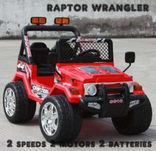 Engine Remote Control Ride On Power Raptor Style Wheels Jeep Car