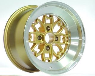 15 Rota Aleica Gold Rims Wheels 15x9 10 4x100