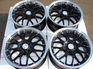 Black Rims Accord Civic Integra Miata galant MR2 Alloy Wheels