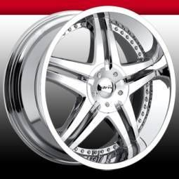 Driv 20x8 5 Tantrum 5x115 Chrome 5x120 5 Lug Rims Wheels Set