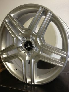 Silver Mercedes AMG Factory OE Wheels Rims C Class 5x112 17x7 5