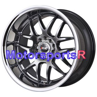 526 Chromium Black Deep Dish Lip Stance Rims Wheels 5x120 Et 20