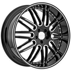22 inch Menzari Z10 Staggered Black Wheels Rims BMW 7 Series Range