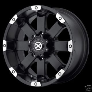 17 Inch BLACK ATX Crawl RIMS 6 Lug 6x5 5 Wheels Chevy Tahoe Yukon