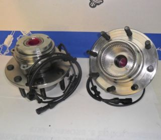 Front Wheel Hub Bearing Assembly 4x4 ABS 8 Lug Pair