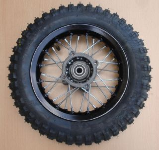 10 Wheel Tire Rim XR50 CRF50 110cc 125cc Dirt Pit Bike 3 00 10 Black
