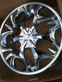 26 Chrome Wheels Tires 5x135 127 Chevy Ford Navigator
