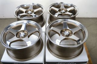 Polished 4 Lug Wheels Civic Accord Cooper Yaris MR2 Cobalt Rims