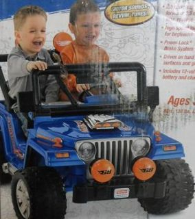 Fisher Price Power Wheels Hot Wheels Jeep Wrangler $299 Value