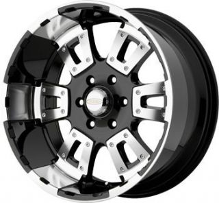 18 inch x10 DIAMO 17 Karat Black Wheels Rims 8x170 Ford F250 F350