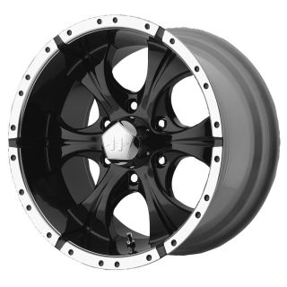 18x9 Helo Maxx Black Wheel Rim s 6x135 6 135 18 9