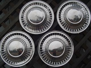 1961 Ford Galaxie Fairlane Hubcaps Wheel Covers Antique Vintage