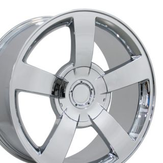 Single 22 Chrome Silverado SS Wheel Rim Fits Chevrolet Tahoe GMC