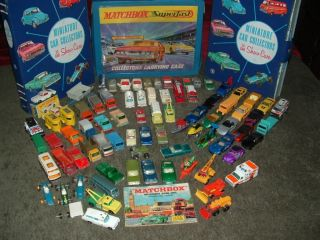 Vintage Matchbox Cars,Three Collector Cases, 1966 Catalog. Lesney and