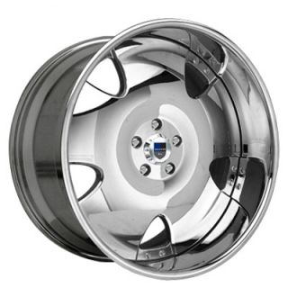 AF111 AF 111 Multi 2 Piece Chrome Wheels Rims Tires Package