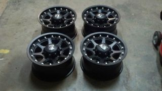 Series Addict Black Set 8x170 Ford F250 F350 8 Lug Truck Wheels