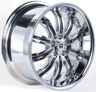 GWG 20 Chrome Wheels Rims Narsis Cadillac cts 2003 Up